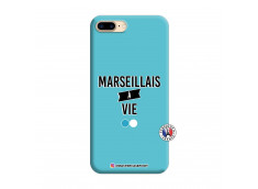 Coque iPhone 7 Plus/8 Plus Marseillais à Vie Silicone Bleu