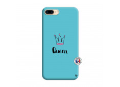 Coque iPhone 7 Plus/8 Plus Queen Silicone Bleu
