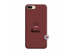 Coque iPhone 7 Plus/8 Plus Queen Silicone Bordeaux