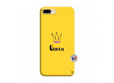Coque iPhone 7 Plus/8 Plus Queen Silicone Jaune