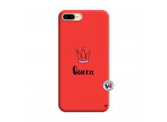 Coque iPhone 7 Plus/8 Plus Queen Silicone Rouge