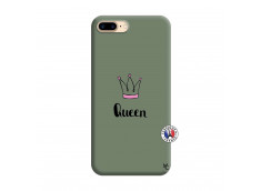 Coque iPhone 7 Plus/8 Plus Queen Silicone Vert