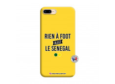 Coque iPhone 7 Plus/8 Plus Rien A Foot Allez Le Senegal Silicone Jaune