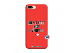 Coque iPhone 7 Plus/8 Plus Rien A Foot Allez Liverpool Silicone Rouge