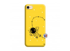 Coque iPhone 7/8 Astro Girl Silicone Jaune