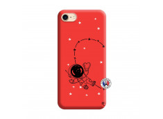 Coque iPhone 7/8 Astro Girl Silicone Rouge