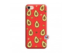 Coque iPhone 7/8 Avocats Silicone Rouge