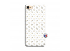Coque iPhone 7/8 Little Hearts Silicone Blanc