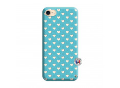 Coque iPhone 7/8 Little Hearts Silicone Bleu