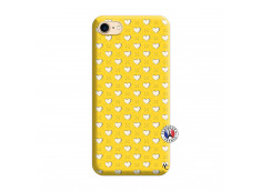 Coque iPhone 7/8 Little Hearts Silicone Jaune