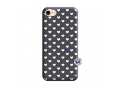 Coque iPhone 7/8 Little Hearts Silicone Navy