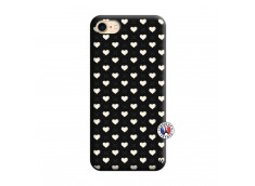 Coque iPhone 7/8 Little Hearts Silicone Noir