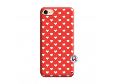 Coque iPhone 7/8 Little Hearts Silicone Rouge