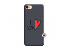 Coque iPhone 7/8 I Love You Silicone Navy