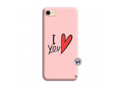 Coque iPhone 7/8 I Love You Silicone Rose
