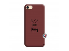 Coque iPhone 7/8 King Silicone Bordeaux