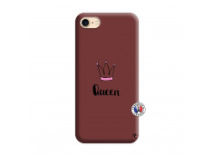 Coque iPhone 7/8 Queen Silicone Bordeaux