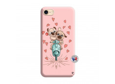 Coque iPhone 7/8/se 2020 Puppies Love Silicone Rose