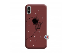 Coque iPhone X/XS Astro Boy Silicone Bordeaux