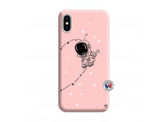 Coque iPhone X/XS Astro Boy Silicone Rose