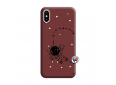 Coque iPhone X/XS Astro Girl Silicone Bordeaux