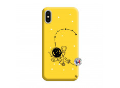 Coque iPhone X/XS Astro Girl Silicone Jaune