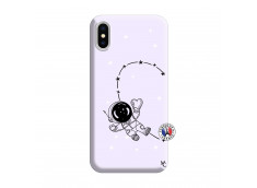 Coque iPhone X/XS Astro Girl Silicone Lilas