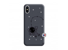 Coque iPhone X/XS Astro Girl Silicone Navy