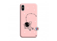 Coque iPhone X/XS Astro Girl Silicone Rose