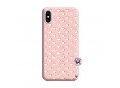 Coque iPhone X/XS Little Hearts Silicone Rose