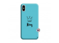 Coque iPhone X/XS King Silicone Bleu