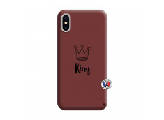 Coque iPhone X/XS King Silicone Bordeaux