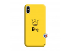 Coque iPhone X/XS King Silicone Jaune