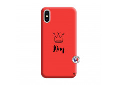 Coque iPhone X/XS King Silicone Rouge