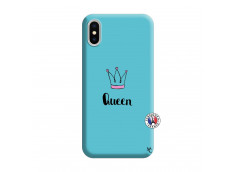 Coque iPhone X/XS Queen Silicone Bleu
