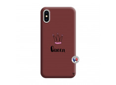 Coque iPhone X/XS Queen Silicone Bordeaux