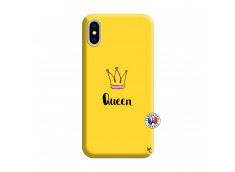Coque iPhone X/XS Queen Silicone Jaune