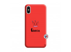 Coque iPhone X/XS Queen Silicone Rouge