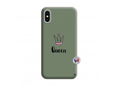 Coque iPhone X/XS Queen Silicone Vert