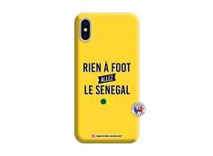 Coque iPhone X/XS Rien A Foot Allez Le Senegal Silicone Jaune