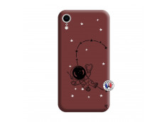 Coque iPhone XR Astro Girl Silicone Bordeaux
