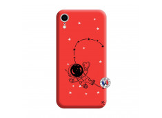 Coque iPhone XR Astro Girl Silicone Rouge