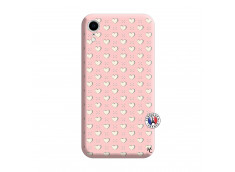 Coque iPhone XR Little Hearts Silicone Rose