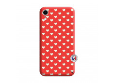 Coque iPhone XR Little Hearts Silicone Rouge