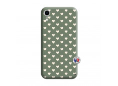 Coque iPhone XR Little Hearts Silicone Vert