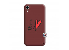 Coque iPhone XR I Love You Silicone Bordeaux