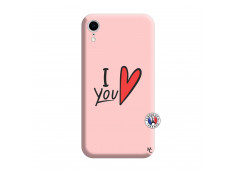 Coque iPhone XR I Love You Silicone Rose