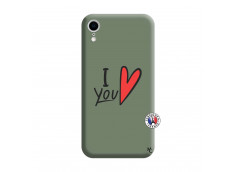 Coque iPhone XR I Love You Silicone Vert
