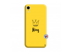 Coque iPhone XR King Silicone Jaune