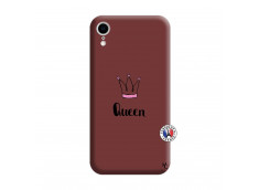 Coque iPhone XR Queen Silicone Bordeaux